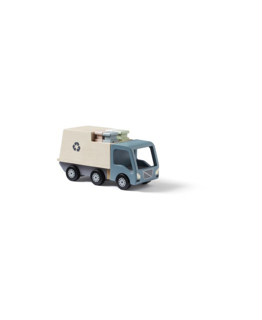 Camion poubelles en bois-...